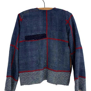 vintage kantha jacket stiched sarees womens long sleeve soft comfy fall winter sping summer wear day and night lightweight cozy hand sewn with pockets haiku maui wings hawaii