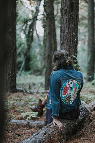 Peace Sign Denim Jacket