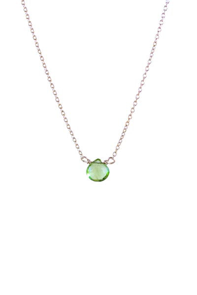 Single Stone Necklace - Peridot