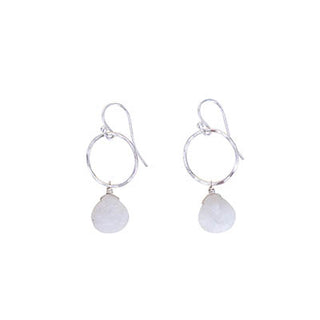 Petite Full Circle Earrings - Moonstone