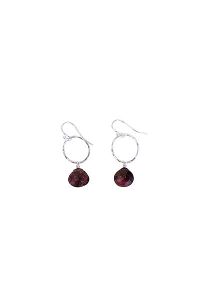 Petite Full Circle Earrings - Tourmaline
