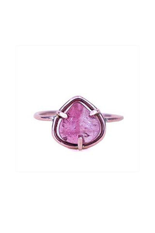 Smooth Pink Tourmaline Ring