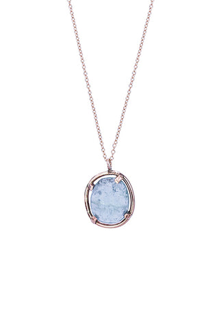 Rose Cut Aquamarine Necklace
