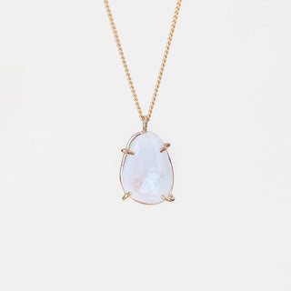 Prong Set Gemstone Necklace - Moonstone