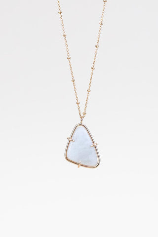 Prong Set Moonstone Necklace