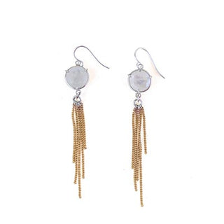 Moonstone Fringe Earrings