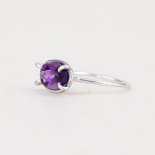 Prongset Gemstone Ring - Amethyst