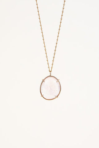 Crystal Ball Necklace - Rose Quartz