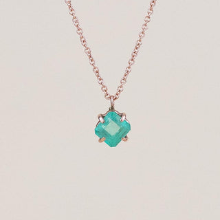 Prongset Gemstone Necklace - 14k - Emerald