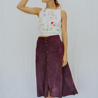 Brie Tea Skirt - Orchid