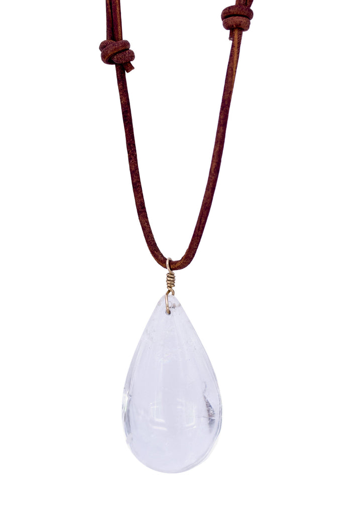 Teardrop Quartz Necklace