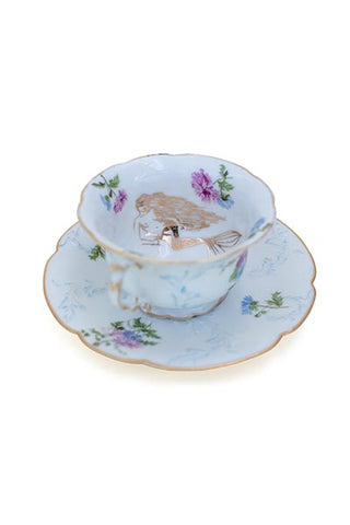 Reclining Mermaid Teacup Set