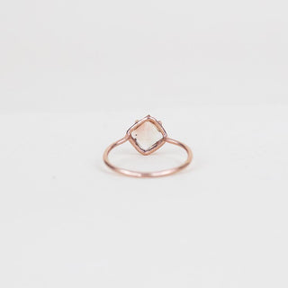 princess cut sunstone prong set on solid 14k rose gold ring women's magical crystal gemstone jewelry fine dainty boho chic jewels wings hawaii