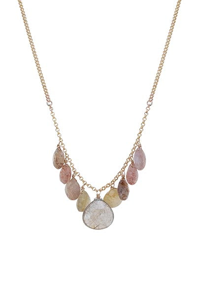 Good Karma Chandelier Necklace - Rutilated Quartz