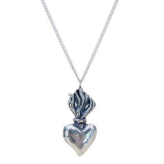 Light My Fire Sacred Heart Necklace