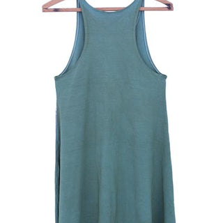 wings hawaii hand sewn sage green tank dress with flaring bottom