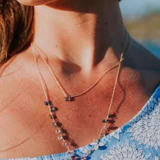 Single Stone Necklace - Tanzanite