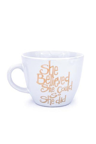 Metallic She Believed Mug