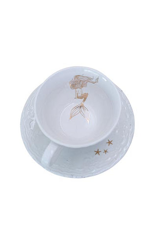 Sitting Mermaid Teacup Set