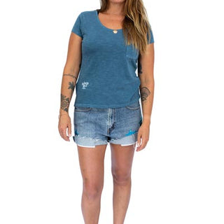 Mermaid Pocket Tee - Blue