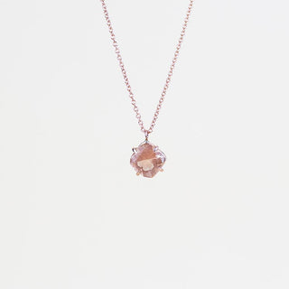 Cushion Cut Sunstone Necklace - 14k