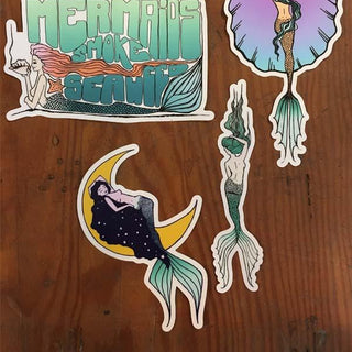 Sunrise Surfer Mermaid Sticker