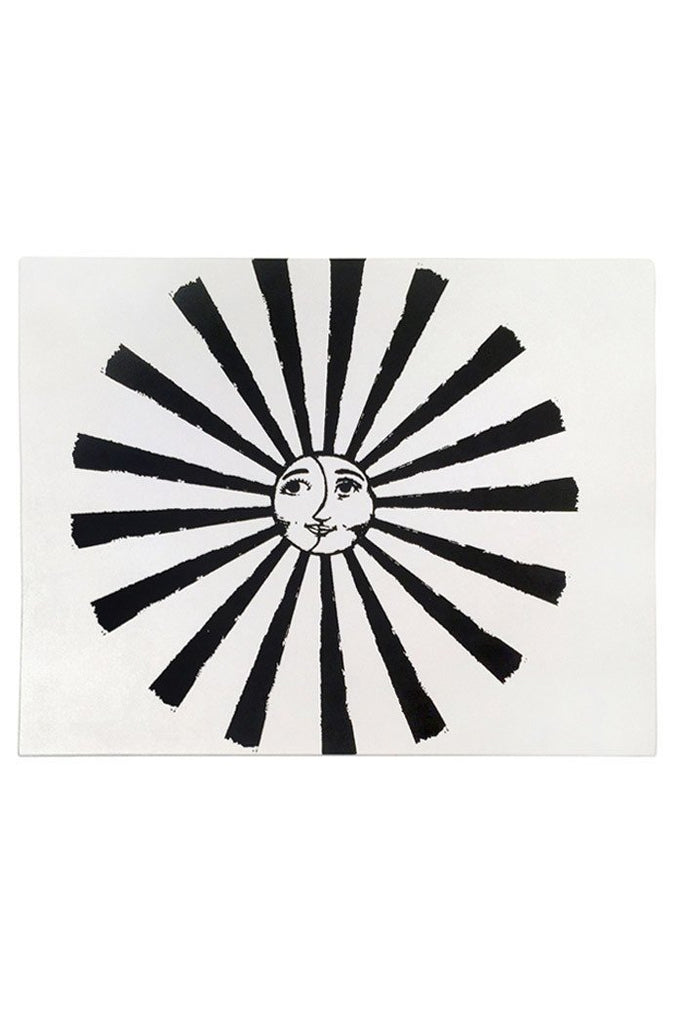 wings hawaii print hand drawn sketch sunshine sun aztec moon island galaxy space celestial mayan sunny beach frame art black white ink home decor decorate wall circle god face smile burst ray