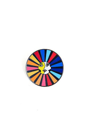 wings hawaii enameled pin sun and moon cosmic celestial rainbow