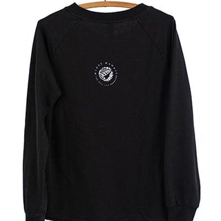 Sun + Moon French Terry Pullover - Black
