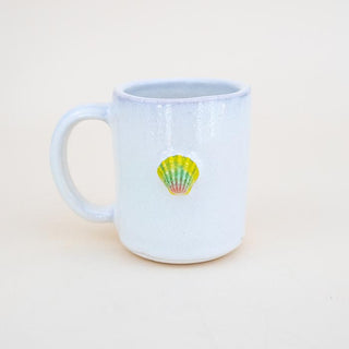 Moonrise Shell Mug - Green / Pink