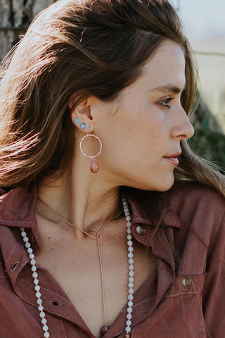 Full Circle Earrings - Sunstone