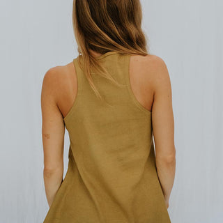 Ribbed Ryanne Swing Tank - Khaki