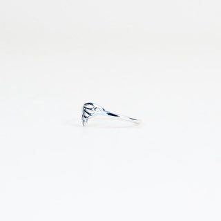 tiny butterfly wing ring made of sterling silver women's jewelry hand made in haiku maui wings hawaii