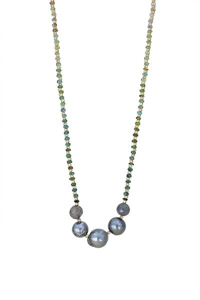 Tahitian Pearl and Tourmaline Necklace
