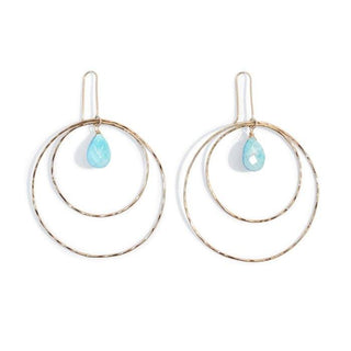 Turquoise Double Hoop Earrings
