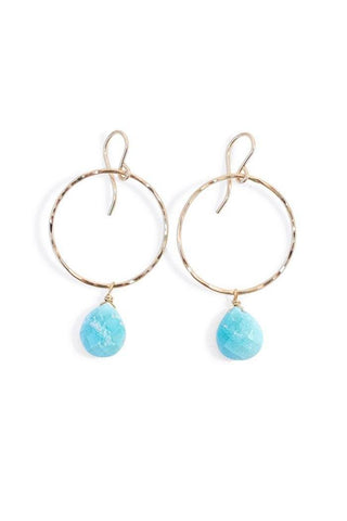 Turquoise Full Circle Earrings