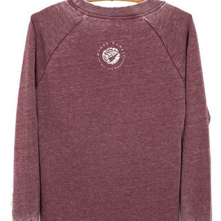 Sun + Moon French Terry Pullover - Wine