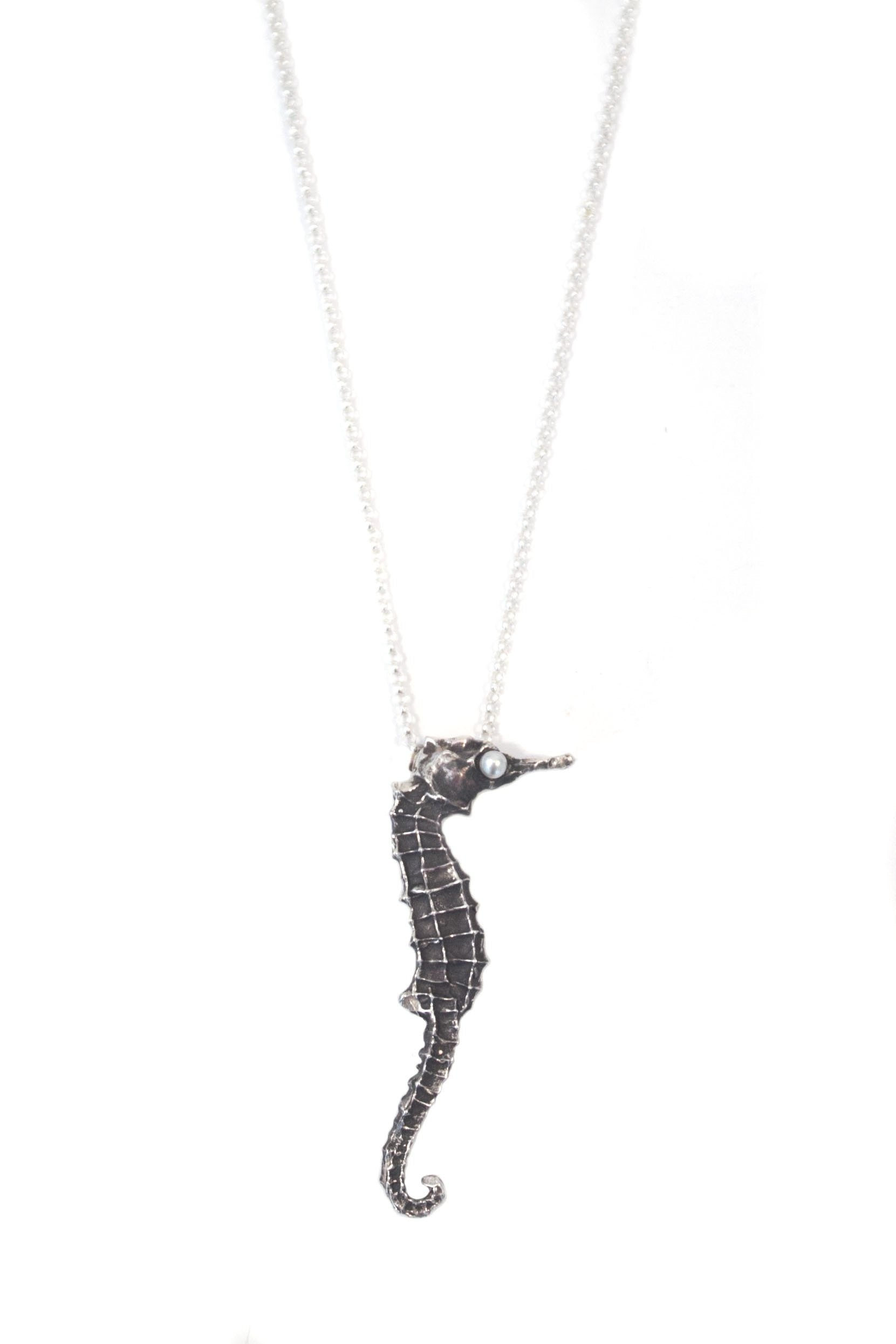 wow of horse necklace length any heart silver kiikers goldfilled sterling copy sea seahorse floating products