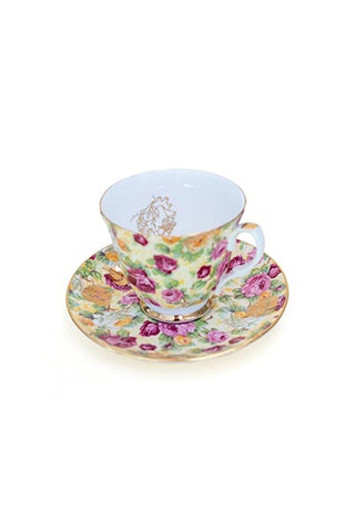 Garden Heart Teacup Set