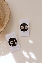 Load image into Gallery viewer, Ceramic Earrings - F U