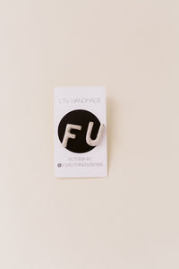 Ceramic Earrings - F U