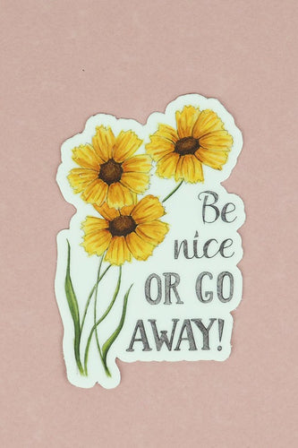 Be Nice Floral Sticker