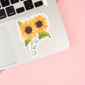 F**k This S**t Floral Sticker