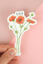 Load image into Gallery viewer, F**k Floral Sticker