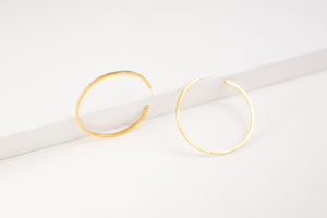 Kye Hoops (Brass or Silver)