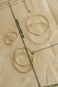 Dainty Pearl Hoops - 3 Sizes - Goldfill or Silver