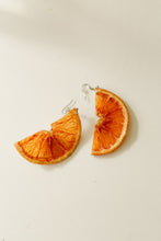 Load image into Gallery viewer, Citrus Earrings - Half Moon Oranges