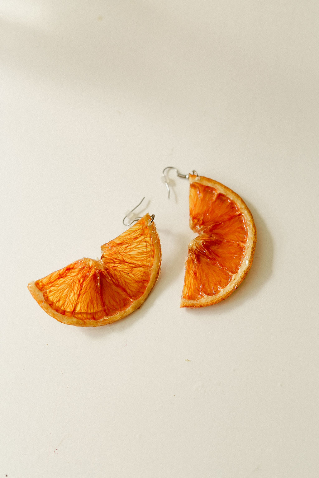 Citrus Earrings - Half Moon Oranges