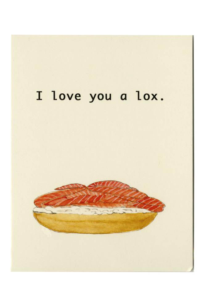 I Love You a Lox Card