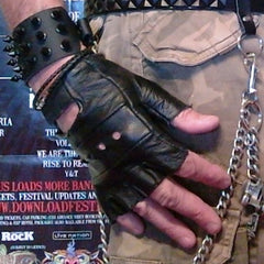 80's Metal - Leather Fingerless Gloves